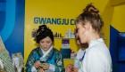 광주세계수영, 의료관광 홍보관에 외국 선수들 호응